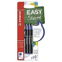 STABILO EASYoriginal-适用于圆珠笔的 3 件笔芯,人体工程学滚珠笔(书写颜色蓝色(可擦除)) 0,5mm 蓝色