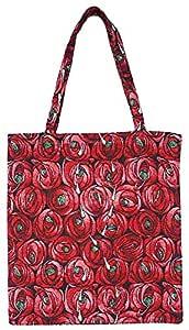 Signare 挂毯可重复使用杂货环保购物手提袋,Mackintosh 设计 Rose Teardrop 中