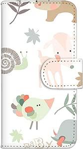 智能手机壳 手册式 对应全部机型 印刷手册 wn-400top 套 手册 动物图案 UV印刷 壳WN-PR061418-MX AQUOS Xx2 502SH B款
