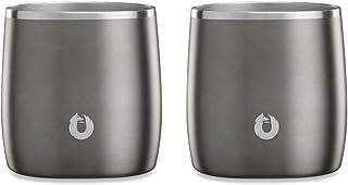Snowfox 不锈钢保温啤*、鸡尾*会、水杯和饮具玻璃杯,让您的饮料保持在完美的温度 橄榄灰色 Rocks Glass C70010-07