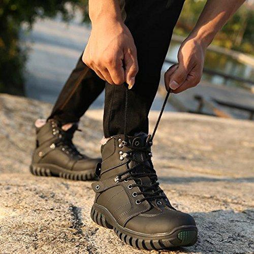 Xiang guan 霸气潮鞋 保暖加绒 户外靴 高帮靴 头层牛皮 棉靴 短靴 军靴 男靴 休闲鞋 马丁靴 男鞋