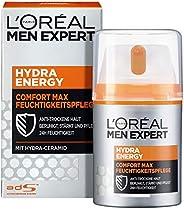 L'Oreal Paris 巴黎欧莱雅 男士专家 劲能极润保湿霜,适用于敏感干燥男性皮肤,不油腻,理想的日