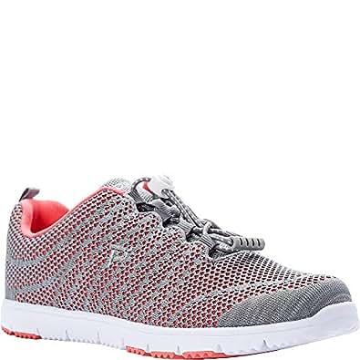 Propet 女式 TravelWalker Evo 运动运动鞋珊瑚色/灰色