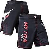 Mytra Fusion 黑色 MMA 和拳击战短裤