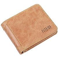 男士折叠三折钱包修身皮革信用卡支架 Micro 卡钱夹 Pabojoe