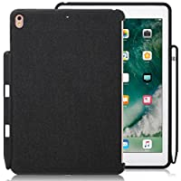 iPad Pro 10.5 Inch Charcoal Gray Color Case - Companion Cover - Perfect match for Apple Smart keyboard and Cover Black with Pen Holder Apple iPad Pro 10.5 Inches
