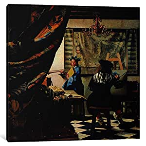iCanvasART 1448-1PC6-37x37 The Art of Painting Canvas Print by Johannes Vermeer, 1.5 by 37 by 37-Inch