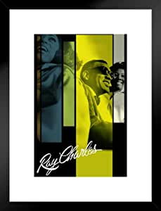 Ray Charles and The Raelettes 音乐海报 30.48 x 45.72 厘米 哑光框架海报 20x26 inches 338746