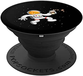 万圣节南瓜宇航员PopSockets 手机和平板电脑握架260027  黑色
