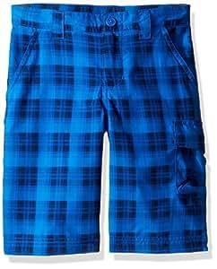 Columbia 男孩 Silver Ridge 印花短裤,XXS 码,*蓝色格子