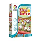 SmartGames 小鸡Shuffle Jr. 旅行儿童益智游戏,认知技能构建大脑游戏 - 4 岁及以上儿童,48 个挑战