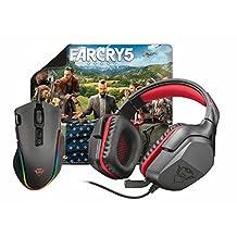 Trust Gaming 3 合 1 RGB 鼠标,头戴式耳机和鼠标垫 - 黑色