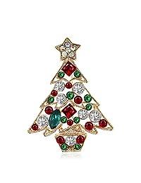 Royal.SaSa 胸针 韩版时尚唯美圣诞树胸针胸花 浪漫圣诞夜