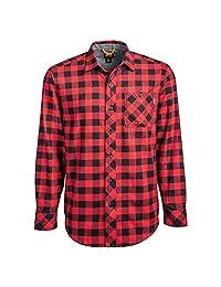 Timberland PRO 男士 A1V49 Woodfort 中等重量法兰绒工作衬衫