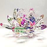Amlong 水晶闪耀水晶莲花风云朵家居装饰带礼盒,3 英寸