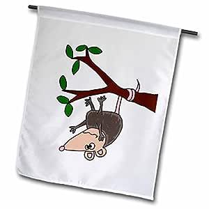all smiles ART animals–FUNNY possum 悬挂从 Tree 卡通–旗帜 12 x 18 inch Garden Flag