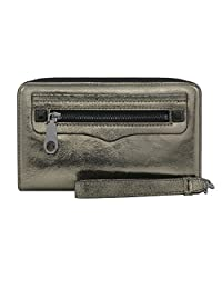Rebecca Minkoff, Regan Universal Wristlet Case Designer Clutch Wristlet fits most Smartphones - Cracked Leather Anthracite
