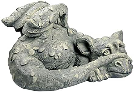 Design Toscano Blushing Babel the Bashful Dragon Statue 白色 小号