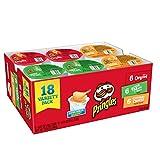 Pringles 零食马铃薯薯片,各种味道,原味,切达干酪,酸奶油和洋葱,365克(18杯)