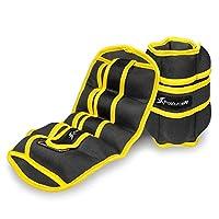 ProsourceFit 脚踝/手腕和手臂/腿部重量 2 件装,可调节肩带 1 磅至 5 磅(约 0.9 千克)至 5 磅(约 1.2 千克),男女皆宜