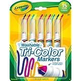 Crayola 5 支装可水洗三头马克笔 2 件装