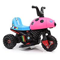 HAPPYBRAND儿童电动车 电动摩托车 小孩电动三轮车玩具车 宝宝童车可坐8918 (粉)