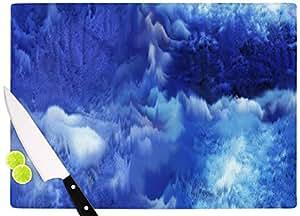 "KESS InHouse Nina May ""海水拼贴蓝色""砧板,29.21 x 40.01 厘米,多色"