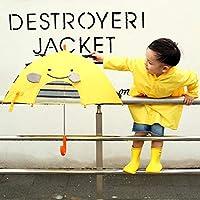 致暖Warmest 儿童雨衣 男女童韩版卡通造型立体 可爱连帽雨披 儿童黄色恐龙雨衣 立体卡通可爱雨披 (M码+雨伞)