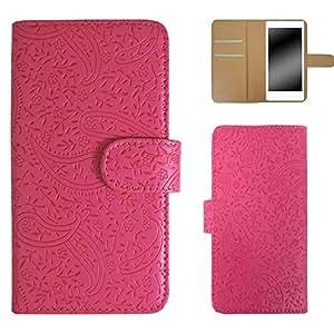 Whitenuts 佩斯利花纹 手机壳 翻盖式 粉色 5_ ARROWS S EM01F
