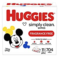 HUGGIES 清洁芳香剂婴儿湿巾软包704支