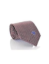 Versace Men's Dizzy Rectangles Woven Silk Necktie