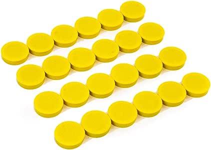 Bullseye 办公室磁铁(24 件装) 黄色 24