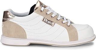 Dexter 女式 Groove IV 白色/麂皮/玫瑰金保龄球鞋