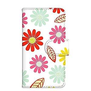 智能手机壳 手册式 对应全部机型 印刷手册 wn-001top 套 手册 花朵 花 HURA UV印刷 壳WN-PR054340-ML AQUOS SH-M02 图案C