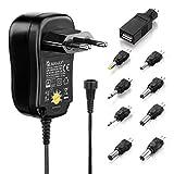 MANAX® 通用电源 3-12 V 输出包括 USB + 8 直流适配器 *大 300 毫安AC 1000mA