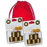 Tokaido 日本图案金属硬币 _ 2 包 _ 共 100 枚硬币 _ 赠品红色天鹅绒储物袋 _ 捆绑物品