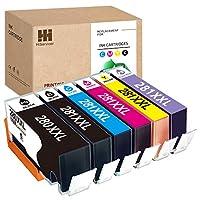 HiServicer 6PACK 兼容 PGI-280XXL CLI-281XXL 墨盒替換件 適用于佳能墨盒 280 281 PGI 280 XXL 適用于 PIXMA TS8120、TS9120、TS8220、TS6220、TS9520、TS8320 打印機