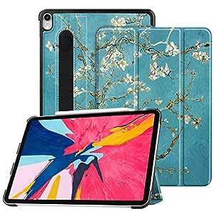 Fintie SlimShell iPad Pro 11 英寸 2018 保护套 [支持*二代铅笔充电模式] - 轻质支架保护套,【*铅笔架】 iPad Pro 11 自动*/唤醒
