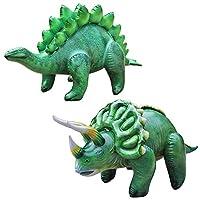 Jet Creations 充气恐龙 2 件装 - 剑龙和三角龙