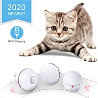 Feeko 猫咪玩具互动智能自动滚动猫咪玩具 USB 充电 LED 灯电子猫玩具球猫咪锻炼追逐玩具