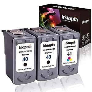 2件装再生高容量墨盒替换配件适用于佳能 PG 40& CL 410615b0020617b002( 1黑色1颜色 comptaible 与 CANON PIXMA–MP 140MP 150MP 160MP 170MP 180MP 190MP 210MX 300ECT
