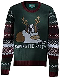 Ugly Christmas Sweater 男式 Light-up-Saving The Party 毛衣