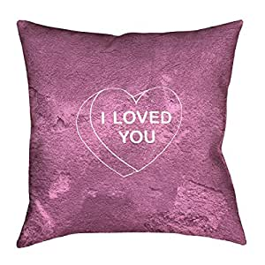ArtVerse Katelyn Smith I Loved You Heart 66.04cm x 66.04cm (仅枕套)Pillow-仿麂皮双面印花带隐形拉链