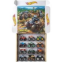 Hot Wheels 适用于3岁及以上儿童的Monster Trucks 1:64比例压铸 Ultimate Chaos 12件装玩具车
