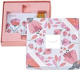 亚马逊礼品卡-粉花礼盒装实物卡-1000RMB