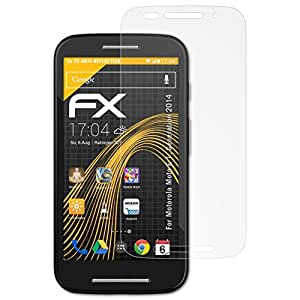 atFoliX Display protection for Motorola .Smartphone & Handy Moto.Serie Devices 覆盖 多种颜色Motorola Moto E Moto E (1. Generation 2014)
