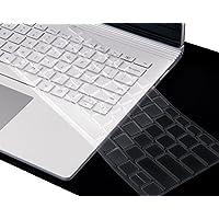 XSKN 超薄键盘保护套适用于 Microsoft Surface Book,透明 TPU 笔记本电脑键盘保护膜,美国布局