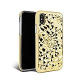 iPhone X Case - FELONY CASE - Beautiful & Stylish 3D Geometric Kaleidoscope Design - Shock Absorbing Protective iPhone X Case Protects Screen & Body 金色