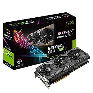 ASUS 华硕 ROG STRIX GeForce GTX 1080 TI 11GB VR Ready 5K高清游戏显卡(ROG-STRIX-GTX1080TI-11G-GAMING)
