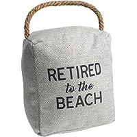 Pavilion Gift Company 灰色 V 形门塞 15.24 厘米退休到海滩,灰色